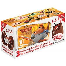 Disney PLANES Zaini Milk Chocolate with Surprise Collection 3 Eggs