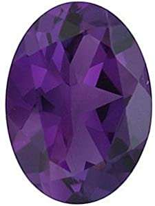 Oval Shape Genuine Amethyst Loose Gemstone, Quality Grade, AAA 0.44 carats 6.00 x 4.00 mm