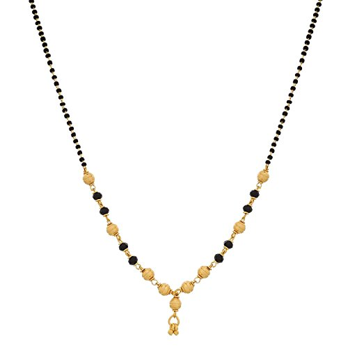 Youbella Gold Plated Mangalsutra Pendant With Chain For Women