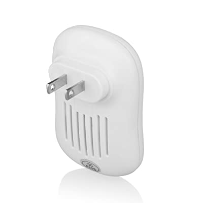 EasyAcc® DoorBell Portable Plug-in Wireless Water-Resistant Door Chime and Push Button with LED Indicator -White