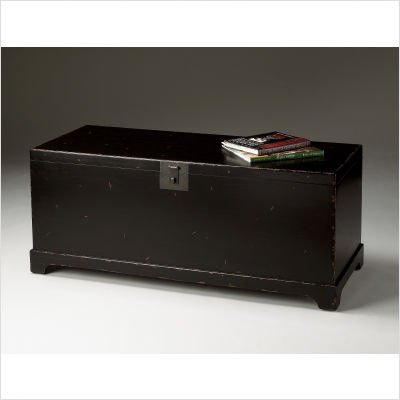 Butler Specialty Black Cocktail Trunk Distressed black