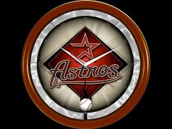 Houston Astros Plasma Clock by Authentic Street Signs