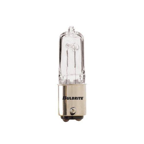 Bulbrite Q50CL/DC120-Volt Halogen JD Type DC Base Bulb, 50-Watt (2) (Color: White, Tamaño: 50 Watts)