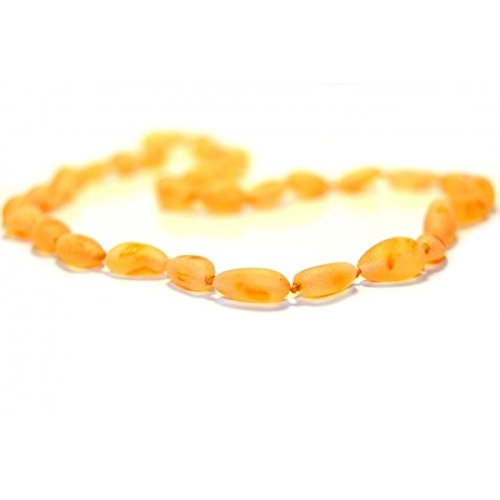 The Art of Cure Baltic Amber Necklace 17 Inch (Bean raw butterscotch) - Anti-inflammatory - 1