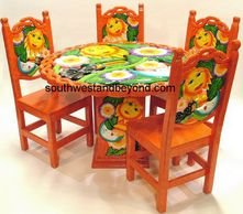 Mexican Dining Table. Mexican Carved Painted Furnitue Hand Painted Hand  Carved Mexican Furniture