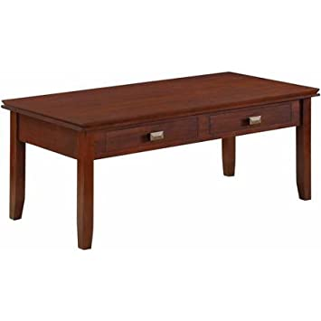 Brooklyn + Max Holden Collection Auburn Brown Coffee Table