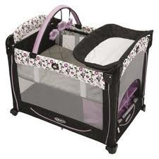 Graco Elmnt Element Pack 'n Play Playard -Paige (White/Purple)