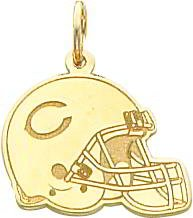 14K Gold NFL Chicago Bears Football Helmet Charm