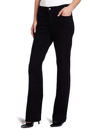 NYDJ Women's Sarah Bootcut Jean With Embellishment, Black, 4P
