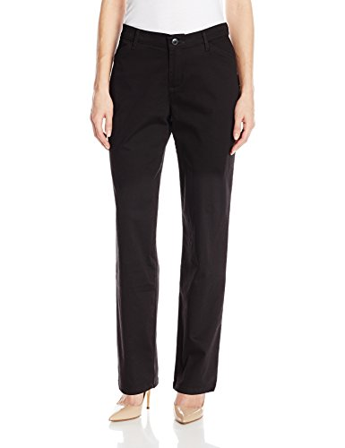 Lee Women's Relaxed-Fit All Day Pant, Black, 10 Medium (Womens Casual Pants compare prices)