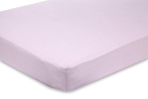 aden + anais Classic Muslin Crib Sheet, Solid Pink