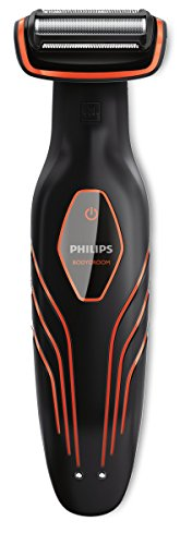 Philips BG2026/32 Bodygroom Plus Serie 3000 Depilatore Corpo, Wet&Dry, Nero/Arancione