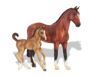 Breyer Classics Blood Bay Warmblood and Foal Set