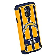 Forever Collectibles NFL San Diego Chargers Dual Hybrid TPU Galaxy S5 Rugged Case