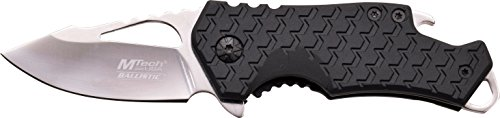 MTech USA MT-A882CH Spring Assist Folding Knife, Silver Blade, Black Handle, 3-Inch Closed