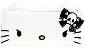 Hello Kitty Angry Face Ears Checkbook Wallet [Apparel] [Apparel]
