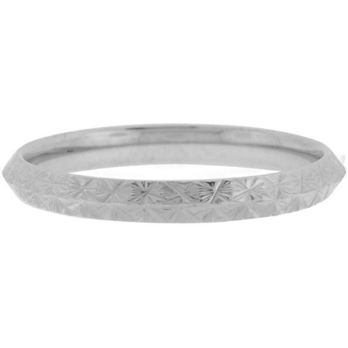 Size 6 - Inox Jewelry Women's Triangular Cut 316L Stainless Steel Band Ring