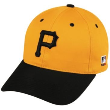 MLB Cooperstown ADULT Pittsburgh PIRATES Gold/Black Hat Cap Adjustable Velcro TWILL Throwback