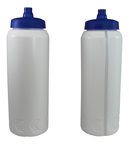 Pro Sports Plastic Water Bottles with Squeeze and Drink Cap 32oz Bpa Free 2 Bottles (Plastic Ice Hockey compare prices)