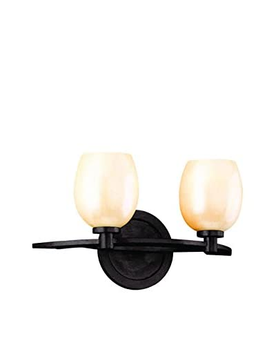 Corbett Lighting Cirque 2-Light Bath Wall Sconce, Brown/Antique Pearl