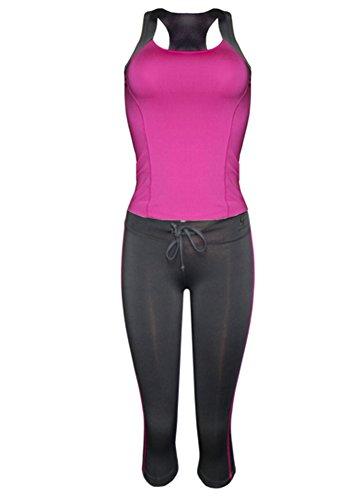 Grip® Women's Performance Athletic Racer Back Tank Top & Yoga Capri Legging Set