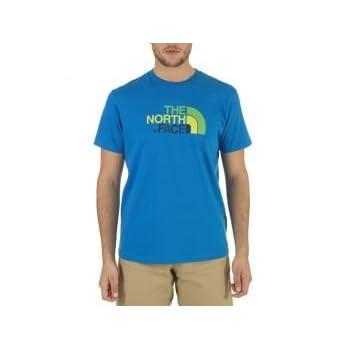 The North Face Men's S/S Easy T-Shirt bleu athènes/bleu eaux pro (Taille cadre: M)