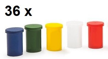 36-x-multicolour-film-canisters-for-geocaching-geomate-film-canister-mini-storage-boxes-micro-caches