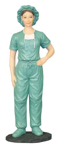 Medical Professional Female Scrub Nurse Figurine
