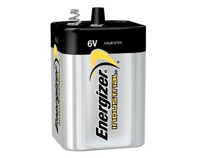 Energizer Battery Alkaline Industrial Lantern 6 Volt Coil Spring Terminal front-627681