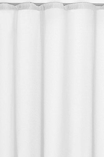 Vorhang-Gardine-Transparent-Kruselband-in-Weiss-140x245cm-Dekoschal