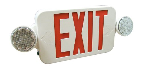 Royal Pacific RXEL34RW Exit Sign and Two Head Emergency Light Combo