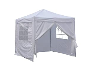 Quictent® Ⅱ8x8 EZ Pop Up Party Tent Canopy Gazebo Silver 4 Walls W/ Free Carry Bag 100% Waterproof