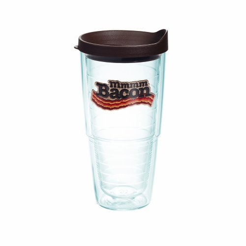 Tervis Tumbler With Brown Lid, 24-Ounce, Bacon