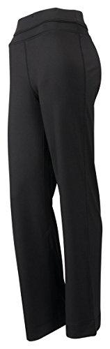 Tri-Mountain Women'S Cheryl Wicking Spandex Jersey Lifestyle Pants, M, Black front-392914