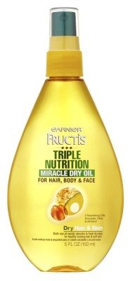 Garnier Fructis Haircare Triple Nutrition Miracle Dry Oil for Hair, Body, & Face 5.1 oz