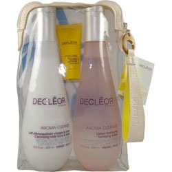 Decleor 400ml Cleansing Milk / 400ml Toning Lotion / 15ml Hydra Floral Moisturising Cream