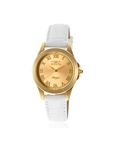 Invicta Women's 14805 Angel White/Gold-Tone Stainless Steel Watch As You See