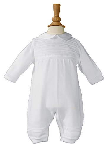 Boys Cotton Knit Christening Outfit Christening Baptism Romper 12M