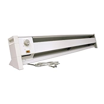Fahrenheat FBE15002 Dual Wattage Electric 5120 BTU Baseboard Heater, 1500/1000-watt
