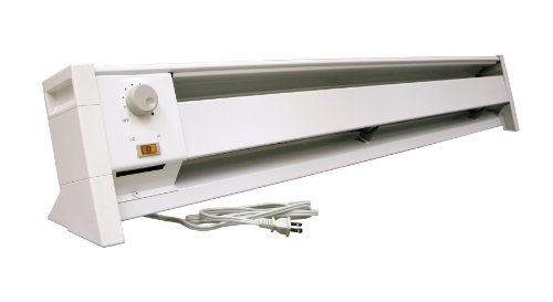 Fahrenheat FBE15002 Dual Wattage Electric 5120 BTU Baseboard Heater, 1500/1000-watt
