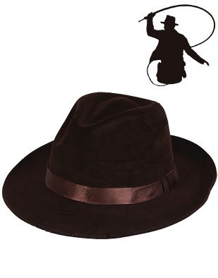 Indiana Raiders Crystal Skulls Jones Costume Fedora Hat