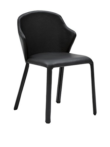 Domitalia Opera Chair, Black Grain Leather