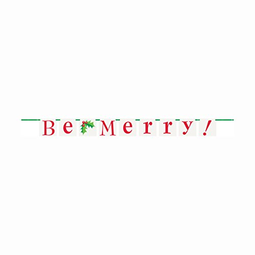 5ft Be Merry Christmas Pennant Banner - 1