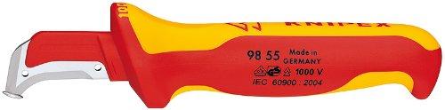Knipex 98 55 Sb 1,000V Insulated Dismantling Knife