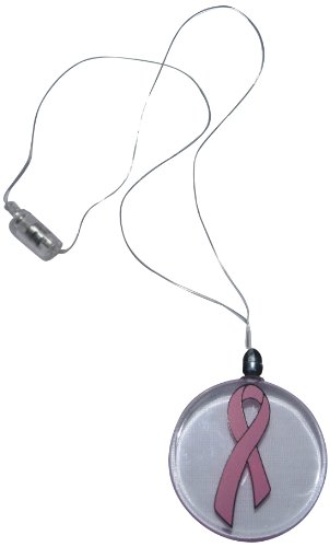WeGlow International Pink Ribbon Medallion Necklace (3 Pieces)
