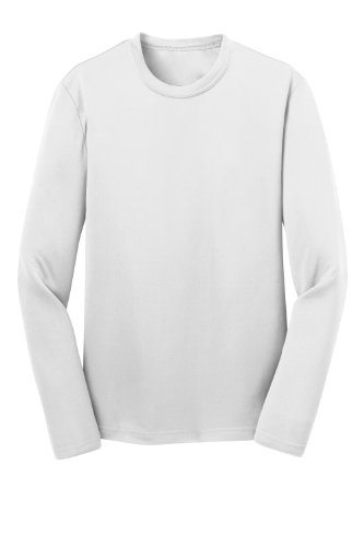 Sport-Tek Youth Long Sleeve Competitor Tee>L White Yst350Ls front-53244