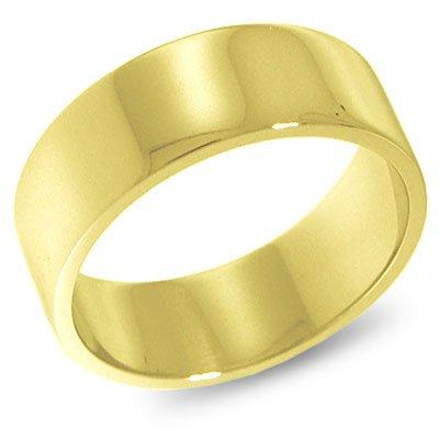 10K Yellow Gold, Flat Wedding Band 7MM (sz 7)