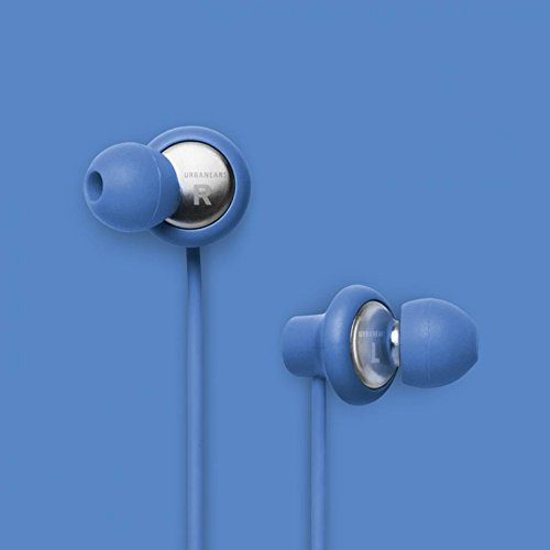 Urbanears Kransen Plus Blue Earphones Earbuds Headphones Mic Remote 04090924
