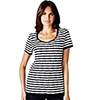 Per Una Textured Striped Ripple Tunic