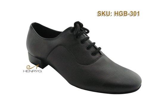 HenryG Mens Ballroom Dance Shoes, Men's Latin Salsa Dance Shoes, Men Black Modern Dance Shoes HGB-301